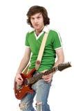 leka för gitarrist royaltyfri fotografi