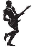 leka för gitarrmusiker Arkivfoton