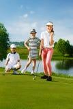 leka för golfungar Arkivbild