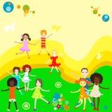 leka för gruppungar Arkivbilder