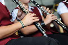 leka för klarinettmusiker Arkivbild