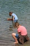 leka för lake Arkivbilder