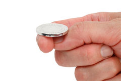 leka för mynt Royaltyfria Foton