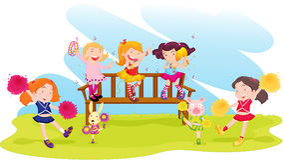 leka för park royaltyfri illustrationer