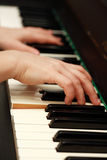 leka för piano Arkivfoton