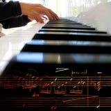 leka för piano Royaltyfria Foton