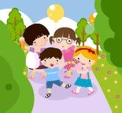 leka för pojkeflicka Royaltyfri Bild