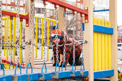 leka för pojkelekplats Arkivfoton