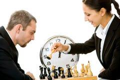 leka för schack Royaltyfria Foton