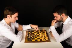leka för schack Arkivfoto