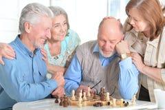 leka för schackmän arkivfoton