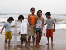leka för strandbarn Royaltyfria Bilder