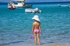 leka för strandungar Fotografering för Bildbyråer
