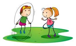 Leka för ungar som är utomhus- Arkivbild