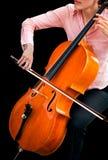 leka för violoncell Royaltyfri Fotografi
