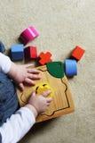 leka formsorterare för barn Royaltyfria Foton