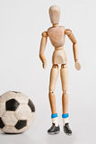 leka fotboll royaltyfri foto