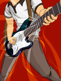 Leka gitarr Royaltyfri Bild