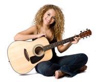 Leka gitarr arkivfoton