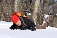 Leka i snowen Royaltyfri Fotografi
