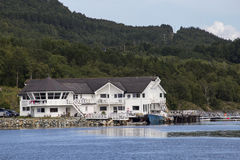 Leka Island, Norway, Centre for the fishers Royalty Free Stock Photos
