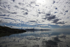 Leka Island, Norway, coast with sky Royalty Free Stock Image