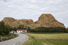 Leka Island, Norway, part of the red mountains Stock Photos