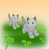 Leka kattungar Arkivbild