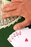 Leka kort och pengar Royaltyfri Bild