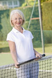 leka le tenniskvinna Arkivbilder