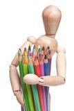 leka med färgblyertspennan Arkivfoto