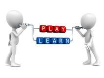 Leka och lär stock illustrationer
