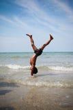 Leka på strand Fotografering för Bildbyråer