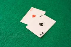 Leka poker Arkivfoto