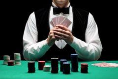leka poker Royaltyfria Bilder