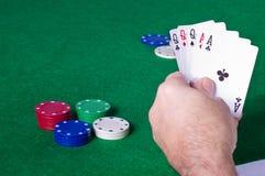 leka poker Arkivbilder