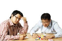 leka poker royaltyfri foto