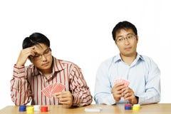 leka poker royaltyfri fotografi