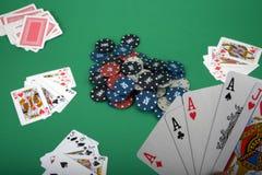 Leka poker Fotografering för Bildbyråer