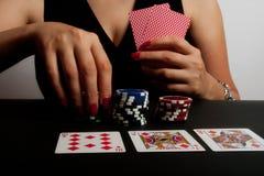 leka poker för kasino Arkivbild