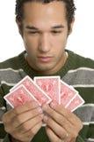 leka poker för man Royaltyfria Foton
