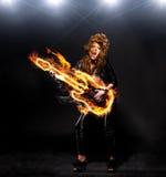 Leka rockmusik Fotografering för Bildbyråer