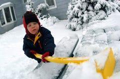 leka snow Royaltyfria Bilder