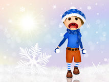 leka snow för barn vektor illustrationer