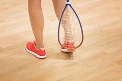 leka squashkvinna Royaltyfria Bilder