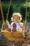 leka swings Fotografering för Bildbyråer