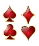 leka symboler för kort Royaltyfri Bild