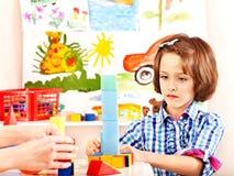 Leka tegelstenar för barn. Royaltyfri Fotografi