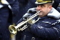 leka trumpet Arkivfoton