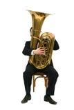 leka tuba för man Royaltyfria Foton